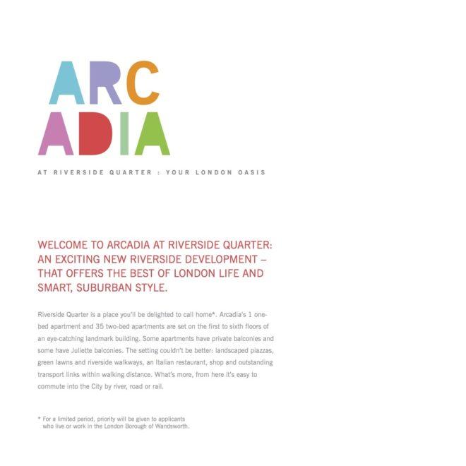 Arcadia copy page